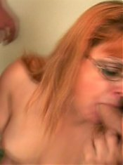 Nasty granny Fritz gets nasty as she goes for a wild senior threesome with her studs live