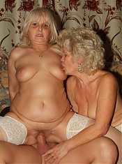 Francesca and Erlene are horny older women having a nice threesome cock sharing on webcam
