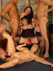Beth Morgan Catherine Curtis And Rachel are horny mature women having a nice orgy on webcam